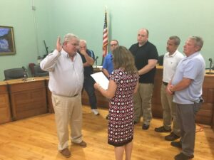 Chris Briggs was sworn in as mayor of Cohoes Tuesday night.