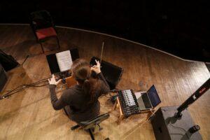 Carolina Eyck plays the theremin