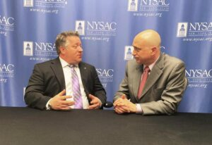 Albany County Executive Dan McCoy and NYSAC Executive Director Stephen Acquario.